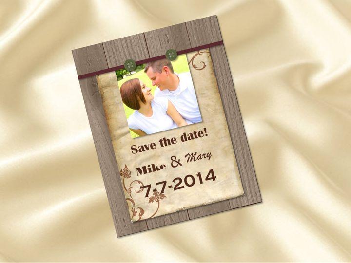Tmx 1461347309608 Save The Date Wood Carol Stream wedding invitation