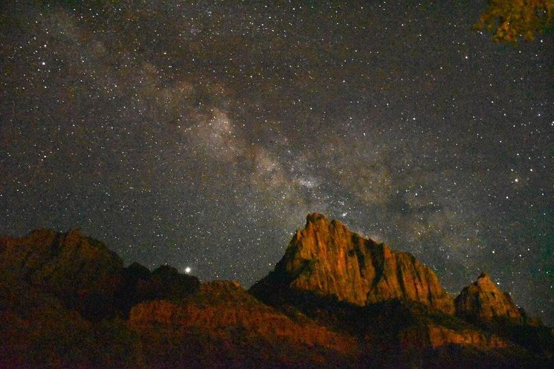 The Milky Way at Zion N.P.