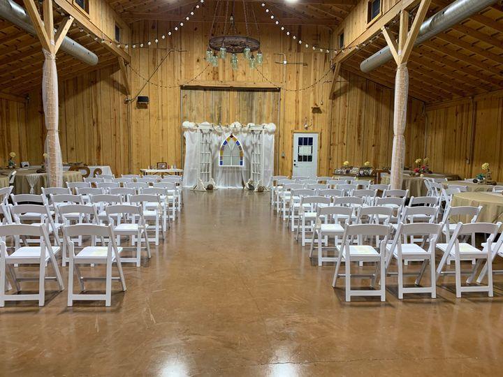 Wedding Inside Barn Setup