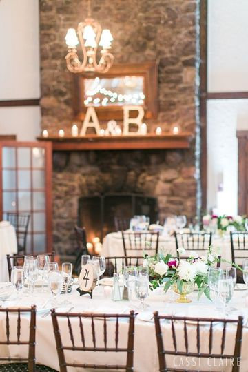Fireplaces make a beautiful backdrop for all weddings.