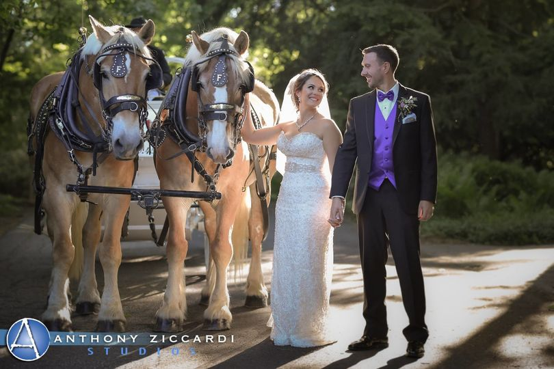 Fritz Farm Carriages made the wedding complete at LVC.