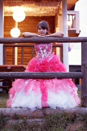 Pink Wedding Dress from WeddingDressFantasy.com