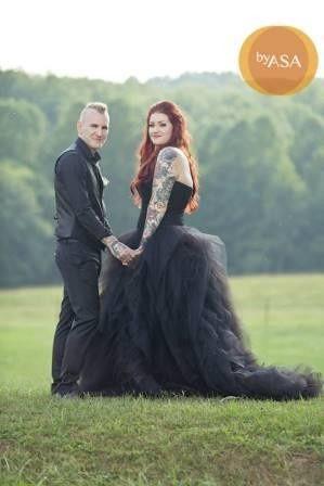 Beautiful Black Wedding Dress from WeddingDressFantasy.com