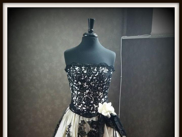 Tmx 1452620247739 Gothicweddingdress Teaneck, NJ wedding dress