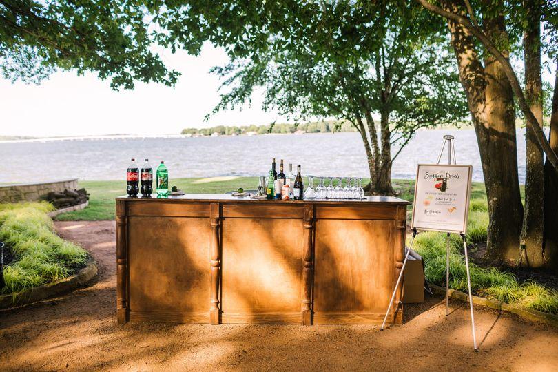 Bar set up lakeside