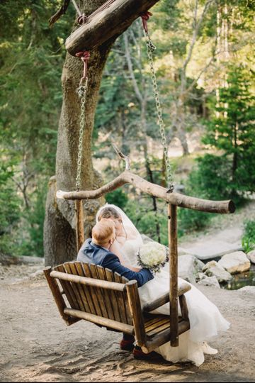 One of the many swings you'll find on our property. Swings in the forest add a touch of romance to...