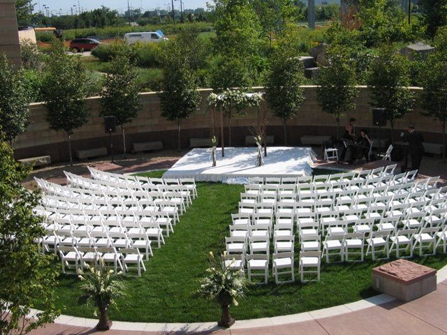 Wedding ceremony stage