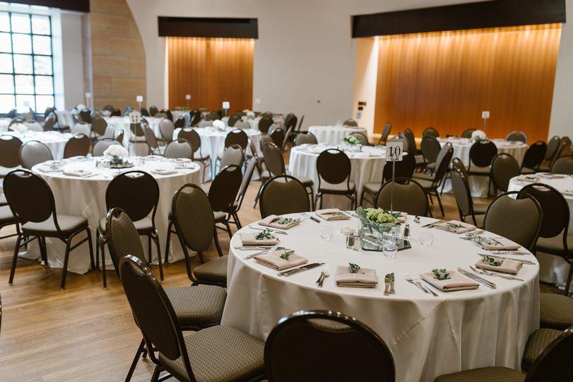 Ballroom w/ banquet chairs
