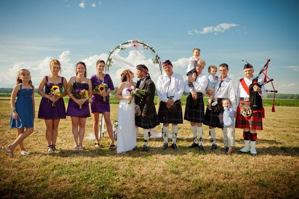 Outdoor wedding portrait, family portrait