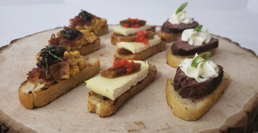 Selection of hors d' oeuvres