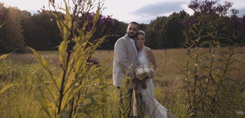 Still from a wedding video.