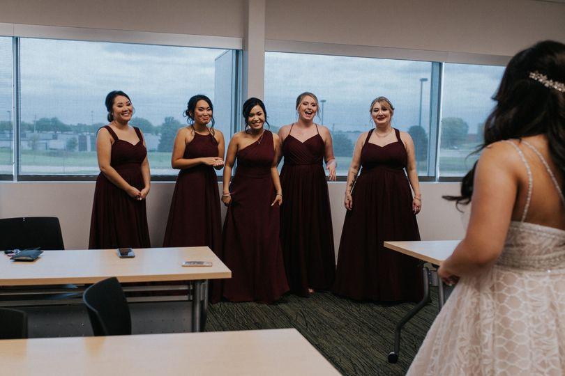 The wedding dress revealed