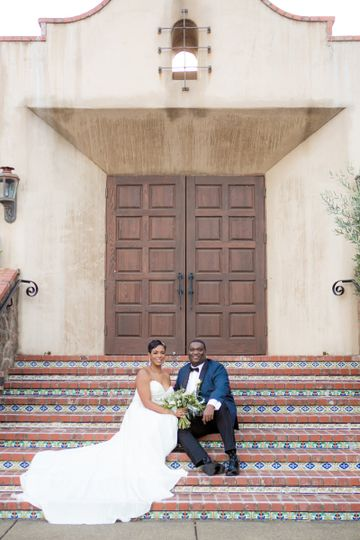 Couple on the steps