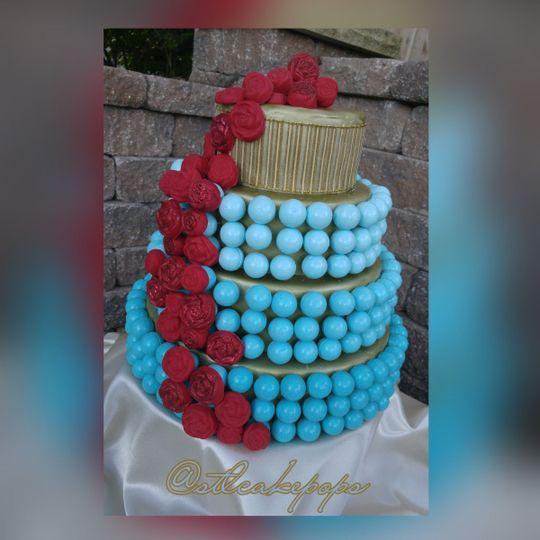 6ccf2c5f4b7a4854 1448930056997 tiffany blue red rose cake ball cake1