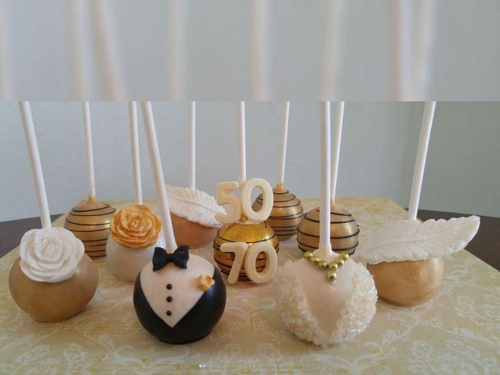 Tmx 1448929929913 Gold  White Anniversary Cake Pops Saint Charles wedding favor