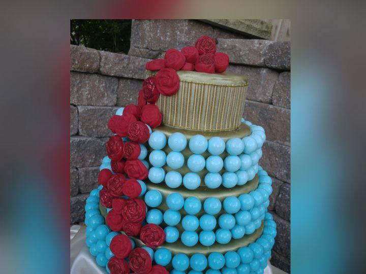 Tmx 1448930056997 Tiffany Blue  Red Rose Cake Ball Cake1 Saint Charles wedding favor