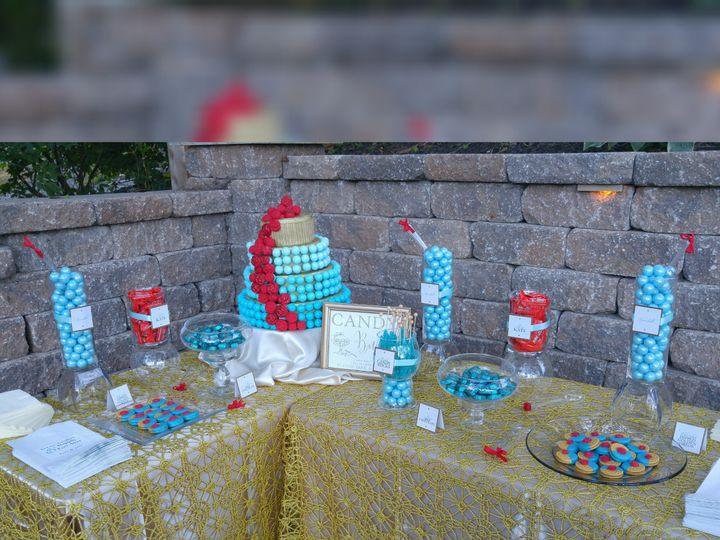 Tmx 1448930087584 Tiffany Blue  Red Rose Dessert Table Saint Charles wedding favor