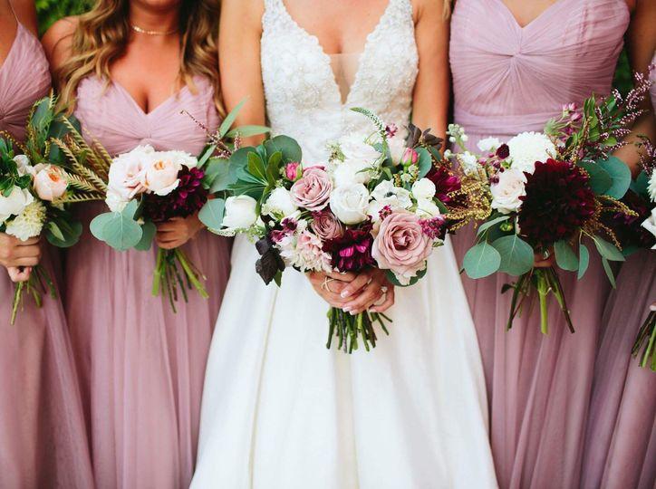Dusty rose,mauve,blush and Marsala Flowers