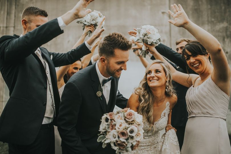 Muted,champagne,nude bouquet
