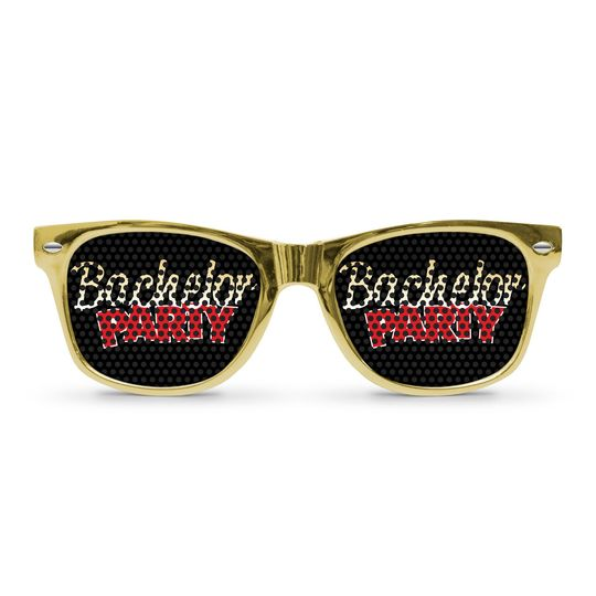 bachelor party gold sunglasses by eyepste