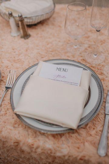 Specialty linen - groom/bride