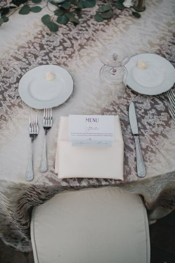 Ivory flora - guests table