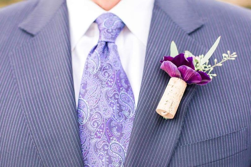 Boutonniere of the groom