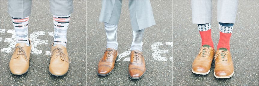 details: socks and shoes