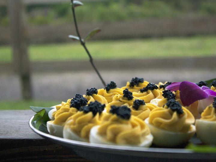 Tmx 1498677539998 Caviar Deviled Eggs01 Sarasota wedding catering