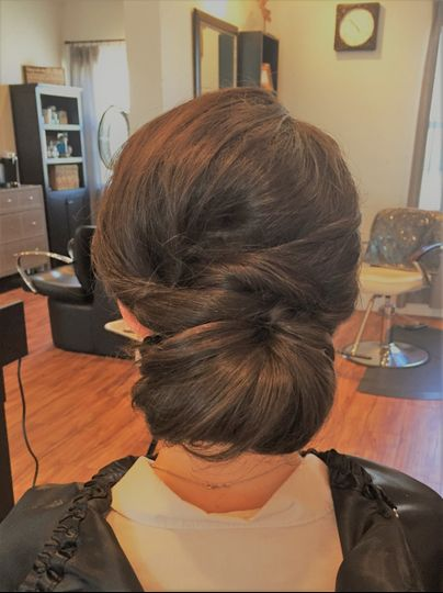 Twisted chignon