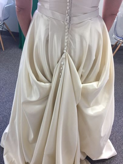 Styled gown