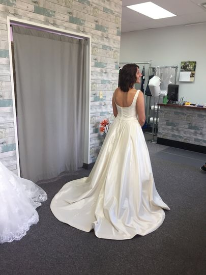 Back of view of the gown