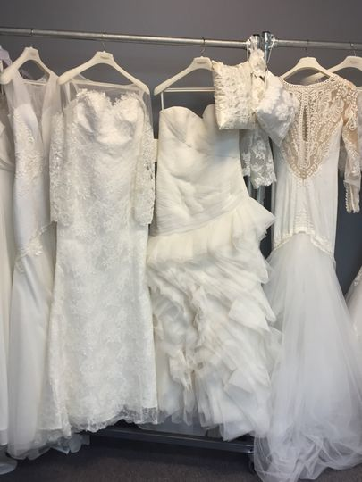 Gowns in the rack