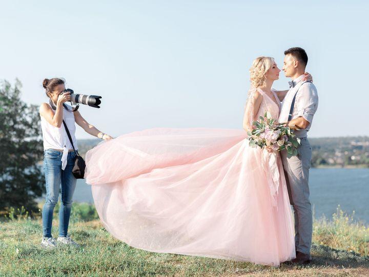 Tmx Bride In Pink Wedding Gown With Groom 51 355093 159183080913155 Seattle, WA wedding band