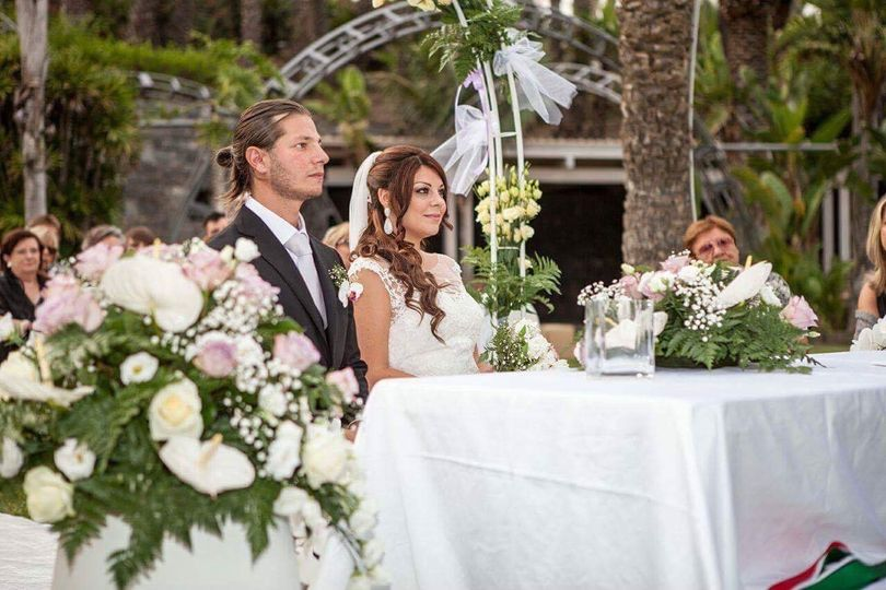 Garden wedding in Catania