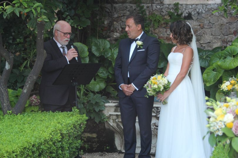 Garden wedding in Taormina