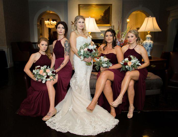 Fierce bride and bridesmaids