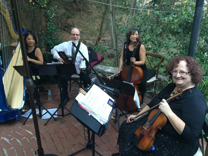 String trio and harp