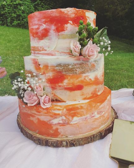 Peach Watercolor Cake