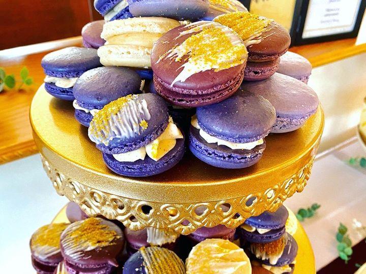 Tmx Faber Wedding Purple Macarons 51 1896093 160142958796724 Saint Louis, MO wedding cake