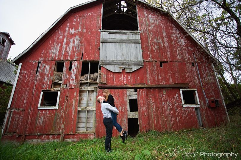 Red Barn Engagement Session