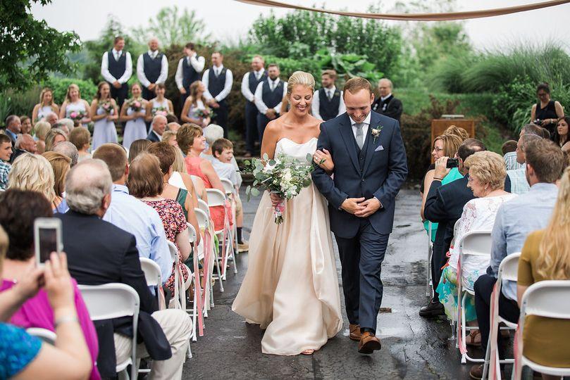 A stunning outdoor wedding