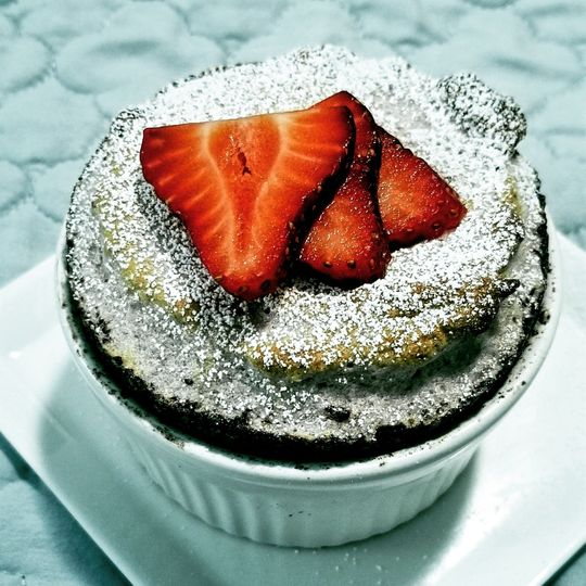 Strawberry cream souffle'