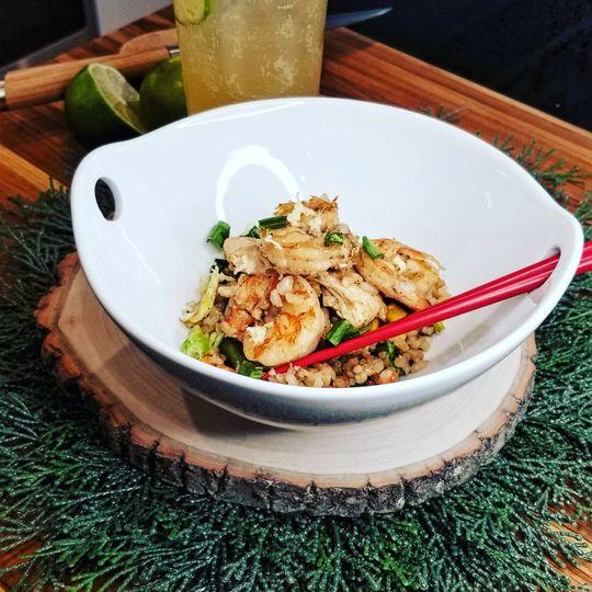 Gourmet shrimp fried rice
