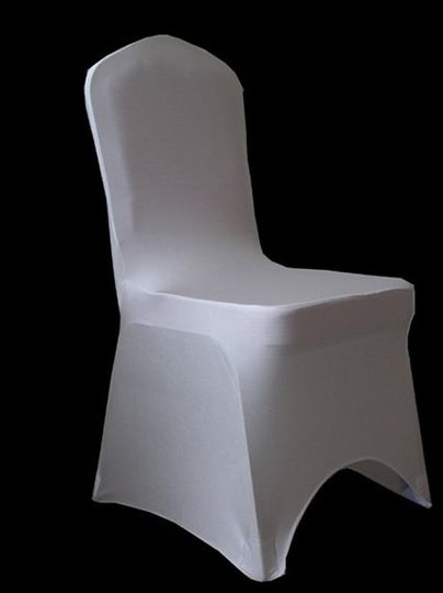 White Spandex Chair Covers Fit most standard banquet chairs