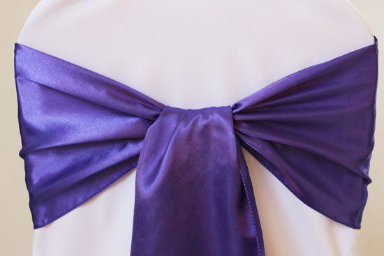 Satin Chair Sashes Available in many colors