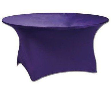 6' Round Spandex Table Covers Available in black and white.  Other colors available upon request