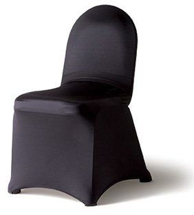 Black Spandex Chair Covers Fit most standard banquet chairs