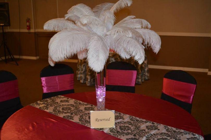 Red table setup