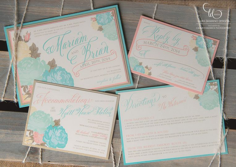 Pastel colors for invites